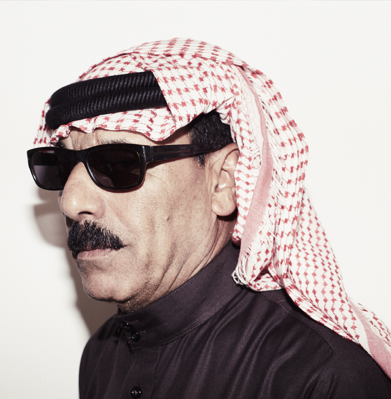 Omar Souleyman, started out as a wedding singer in his native Syria and presents a joyous, pop culture side of his beleaguered country. Image source: womad.cl