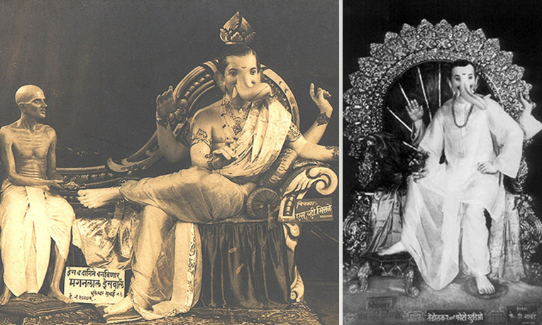 The two most intriguing styles of sculpting the idols in 1942 and 1945