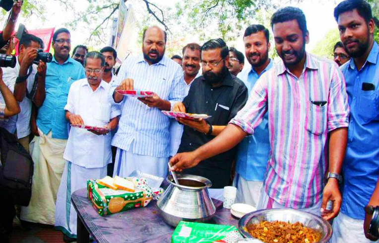 A scene from one of Kerala's beef fests. Image source: thenewsminute.com