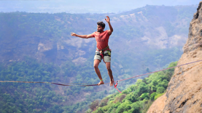 Slackline and Highline In India - Rohit Vartak