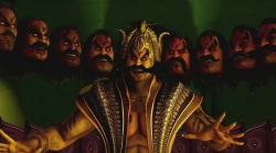 Ravana is a manipulative dictator who shuts down any form of dissent even from one of his own heads