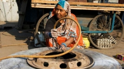 Shanti Devi, India's Only Female Truck Mechanic, Fixes Tyres And Breaks Stereotypes